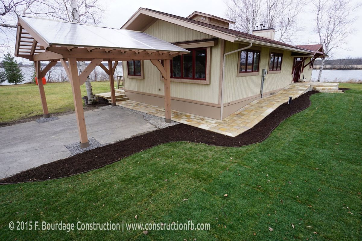 Paverdeck and natural stone, F. Bourdage Construction