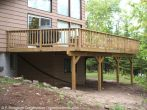 Wood deck, Big Rideau Lake, F. Bourdage Construction