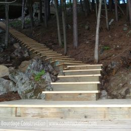 Staircase, Rideau River (Ottawa), F. Bourdage Construction