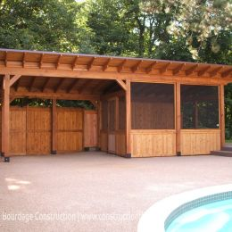 Poolhouse Veranda, Nepean (Ottawa). F. Bourdage Construction